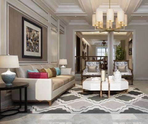 160平美式风格三居室装修效果图