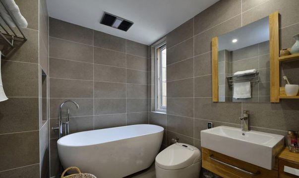 新中式卫生间背景墙设计方案