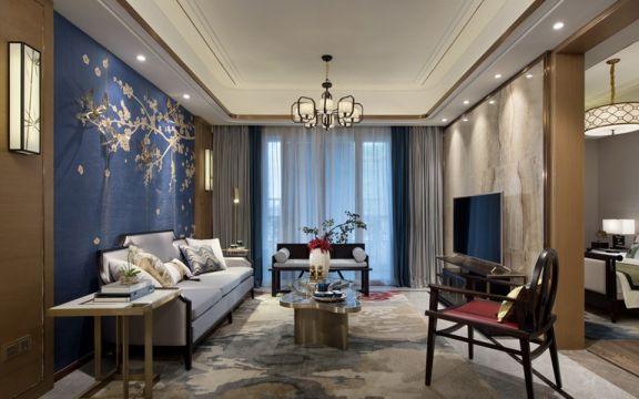 低调优雅中式灰色窗帘设计效果图