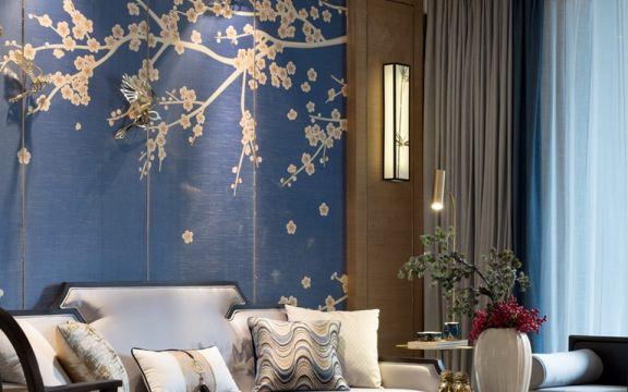 中式客厅背景墙装潢设计图片