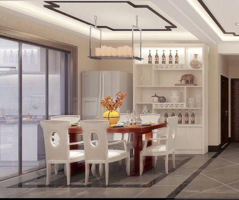 新中式餐厅餐桌装饰设计图片