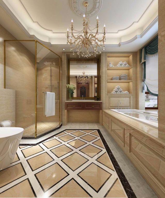 新中式卫生间地砖室内装饰