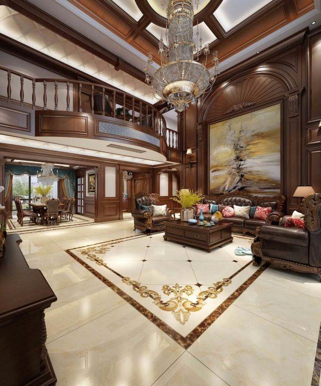 时尚客厅新中式室内装修图片