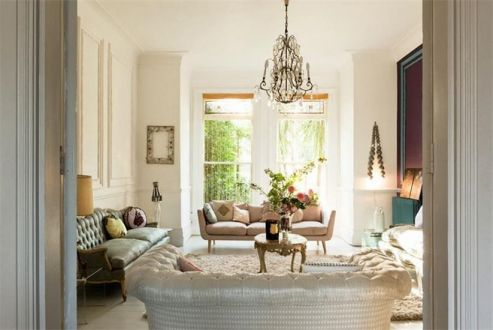 古朴客厅美式装修案例效果图