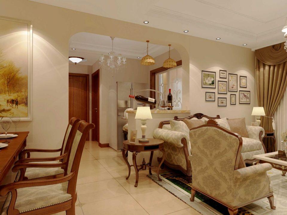 简单大气客厅简欧装修设计