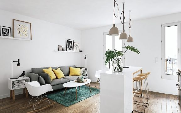 68平北欧风格公寓装修效果图