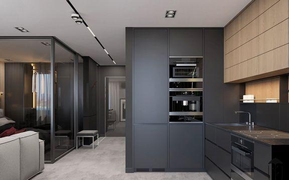 厨房黑色橱柜设计图