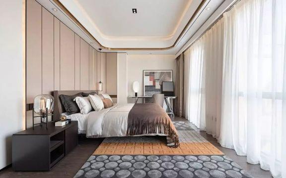 简单大气白色卧室装潢实景图片