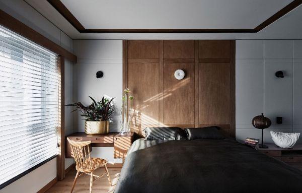 清新素丽现代简约咖啡色背景墙效果图
