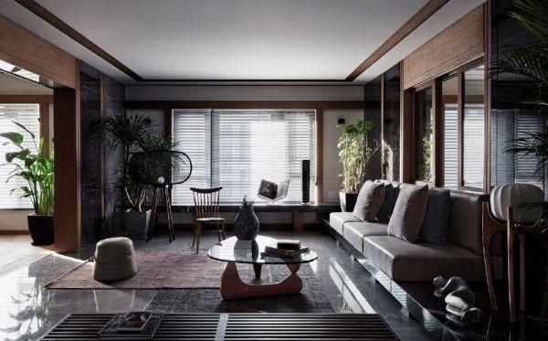 现代简约客厅吊顶装饰图