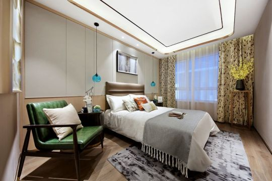 卧室白色吊顶装饰设计图片