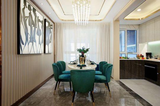 餐厅餐桌现代室内效果图