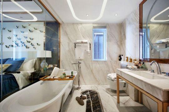 现代卫生间洗漱台室内u乐娱乐平台图片