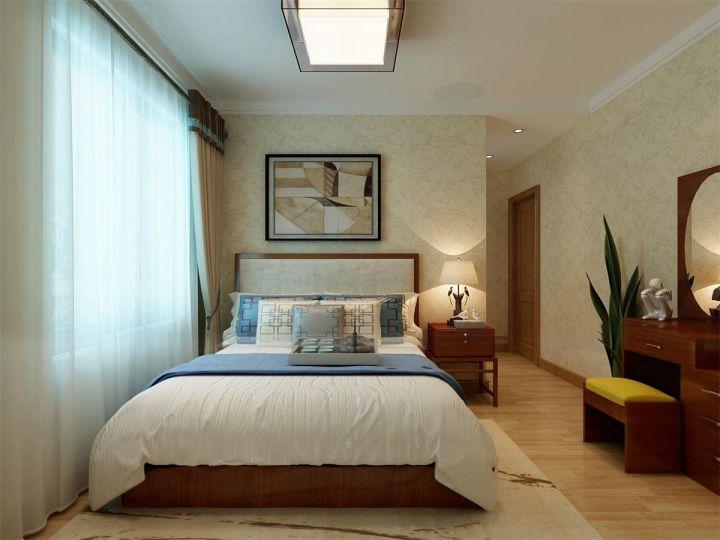 卧室窗帘u乐国际娱乐城装潢实景图片