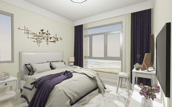美观大方现代简约灰色窗帘装修美图