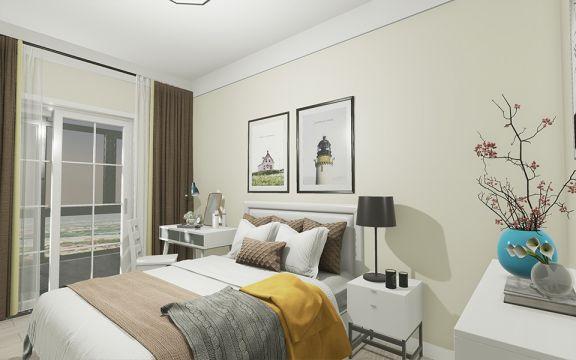 现代简约卧室背景墙装潢设计图片