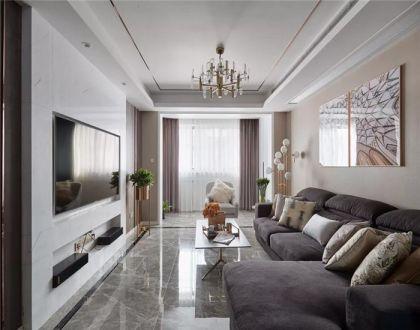 144平现代风格三居室装修效果图