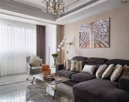 客厅背景墙现代案例图片