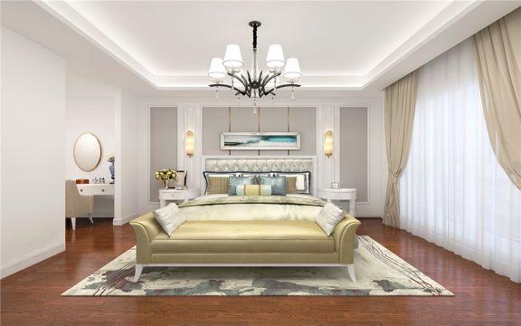 优雅卧室窗帘装潢图片