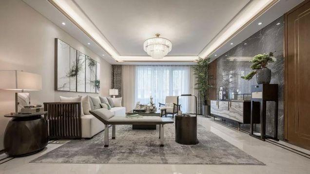 166平新中式风格三居室装修效果图