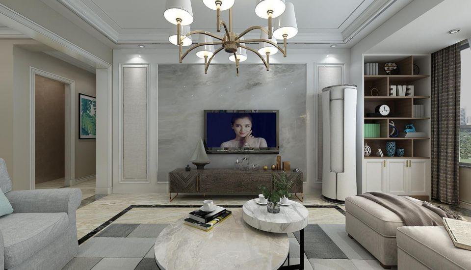 简欧客厅电视柜设计图片