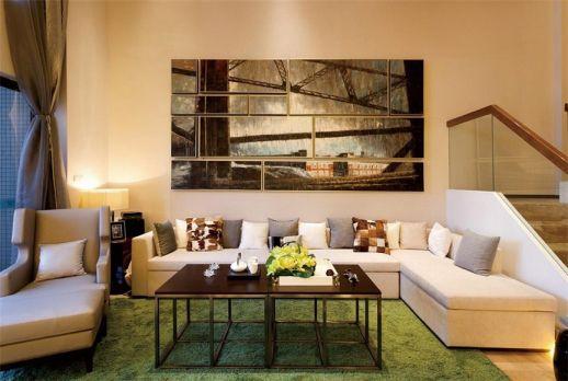 唯美客厅背景墙装饰图