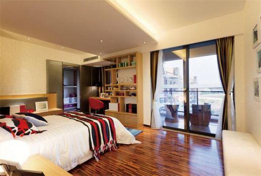卧室咖啡色地砖装修实景图