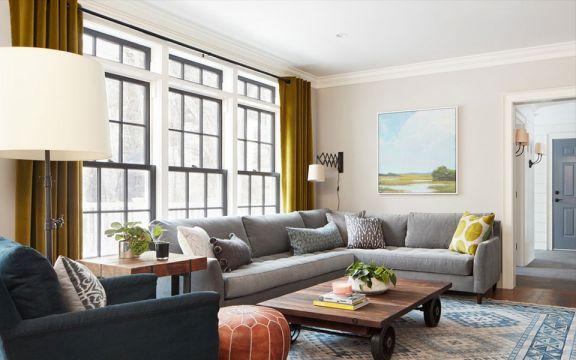 134平美式风格三居室装修效果图
