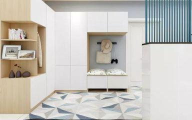玄关白色鞋柜室内装饰