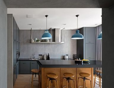 2021混搭厨房装修图 2021混搭厨房岛台装饰设计