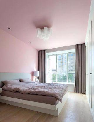 温馨粉色背景墙装修案例