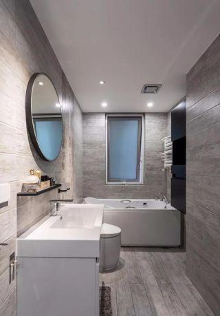 朴素温馨卫生间洗漱台装饰设计
