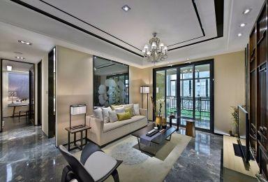 93平新中式风格两居室装修效果图