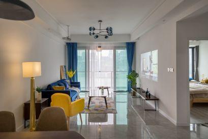 63平现代风格两居室装修效果图
