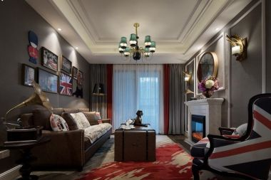125平美式风格三居室装修效果图