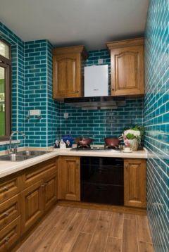 淡雅厨房美式实木家具平面图