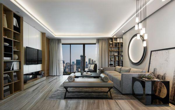 103平新中式风格套房装修效果图