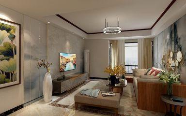 119平新中式风格三居室装修效果图