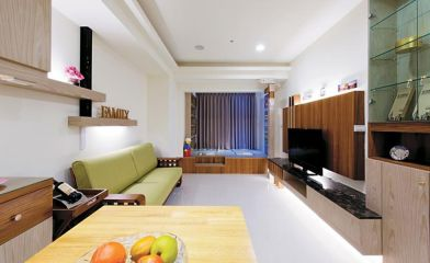 89平现代风格两居室装修效果图