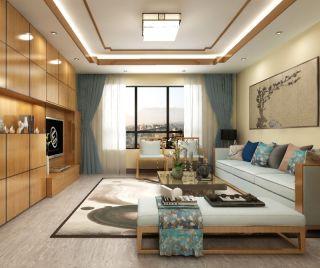 160平中式风格三居室装修效果图