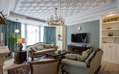 200平美式风格别墅装修效果图