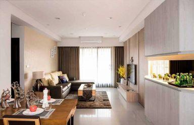 75平现代风格一居室装修效果图