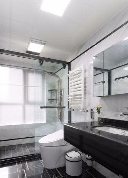 卫生间黑色人造石洗漱台效果图图片