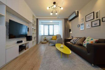 89平北欧风格两居室装修效果图