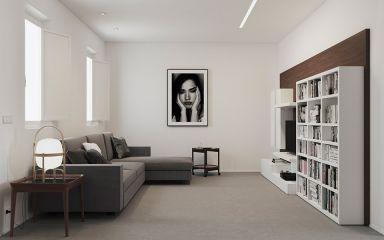 89平现代简约风格两居室装修效果图