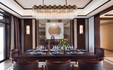 东南亚风格房屋餐厅餐桌装潢图