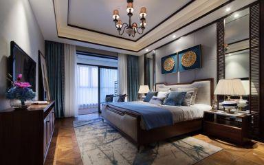 纯净卧室东南亚室内装修设计