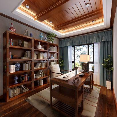 2019中式书房装修设计 2019中式书桌装修图片