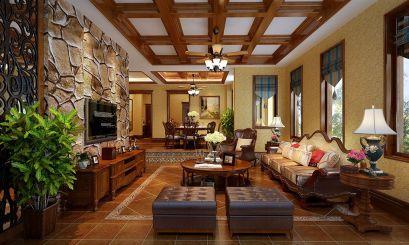 300平美式风格别墅装修效果图