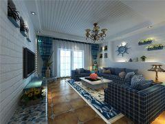 139平地中海风格三居室装修效果图
